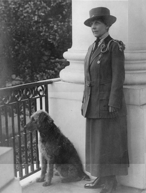 Florence Harding with Laddie Boy